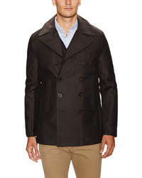 French Connection Twill Double Breasted Peacoat