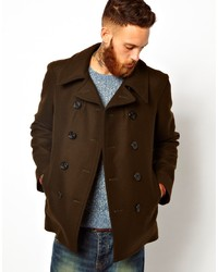 Gloverall Peacoat In Melton Wool