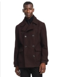 Kenneth Cole Reaction Coat Solid Peacoat