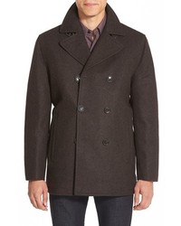 Michl kors wool blend double breasted peacoat medium 392893