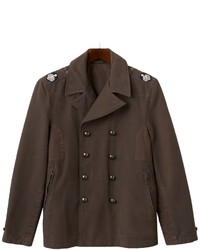 R and o double breasted military peacoat medium 112282