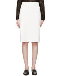Helmut Lang Ivory Neoprene Skirt