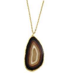 Charlene K Sliced Agate Pendant Necklace