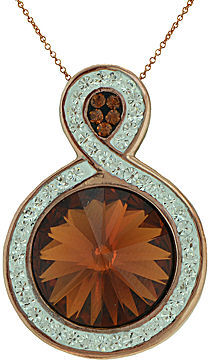 jcpenney Fine Jewelry 14k Rose Gold Over Sterling Silver Crystal