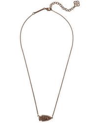 Kendra Scott Kasey Arrowhead Druzy Pendant Necklace