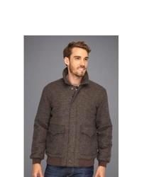 Stetson Pu Coated Wool Brown Glen Plaid Jacket Coat