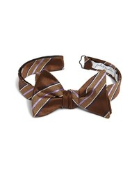 Dark Brown Plaid Bow-tie