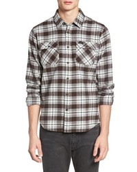 RVCA Thatll Work Trim Fit Plaid Flannel Shirt