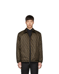 Fendi Reversible Brown Plaid Forever Jacket