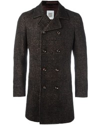 Plaid double breasted coat medium 820135