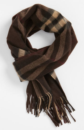 f858b7fff ... Burberry Giant Check Cashmere Scarf Dark Chestnut Brown One Size