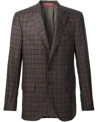 Isaia Plaid Blazer Jacket
