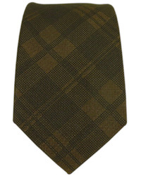 Dark Brown Plaid Tie