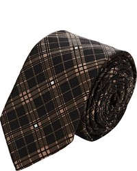 Givenchy Checked Jacquard Necktie Brown