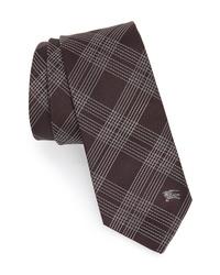 Burberry Manston Graphic Line Check Silk Tie