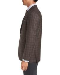 David Donahue Connor Classic Fit Plaid Sport Coat