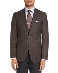 David Donahue Connor Classic Fit Plaid Sport Coat