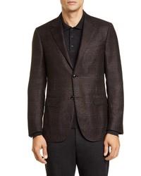 Ermenegildo Zegna Eregildo Zenga Milano Easy Classic Fit Plaid Wool Sport Coat