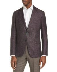Ermenegildo Zegna Milano Easy Classic Fit Plaid Wool Blend Sport Coat