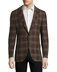 Isaia Regular Fit Exploded Glen Plaid Wool Sportcoat