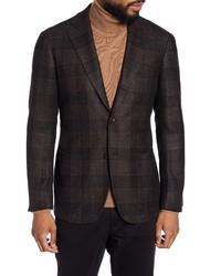 Ring Jacket Trim Fit Plaid Wool Blend Sport Coat
