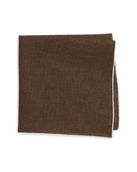 Suitsupply Solid Linen Pocket Square