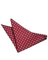 Dark Brown Polka Dot Pocket Square