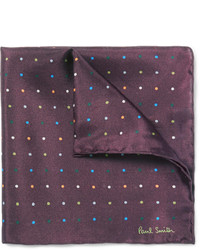 Paul Smith Shoes Accessories Polka Dot Silk Pocket Square
