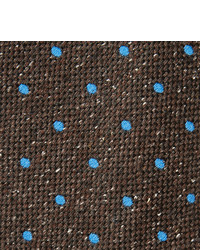 8cm Polka Dot Wool And Silk Blend Tie