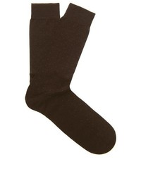 Dark Brown Polka Dot Socks