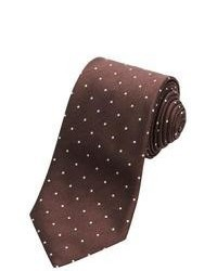 Altea Tamigi Small Dot Tie Silk Wool Brown