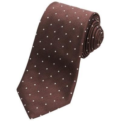 Altea Tamigi Small Dot Tie Silk Wool Brown
