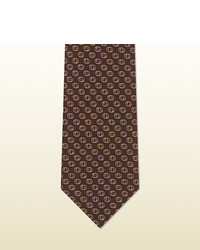Gucci Interlocking G Woven Silk Tie