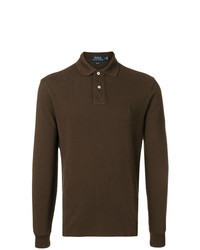 Dark Brown Polo Neck Sweater