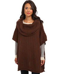 Dark brown poncho original 10213920