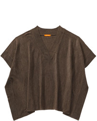 Poncho sweater brown mix medium 344936