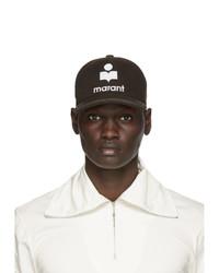 Dark Brown Print Baseball Cap