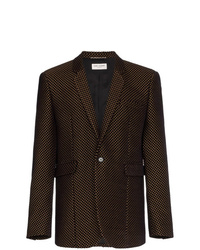 Saint Laurent Velvet Gold Detail Blazer