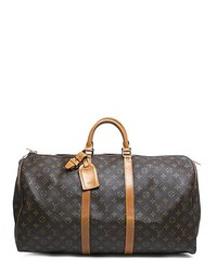 Louis Vuitton Pre Owned Monogram Canvas Keepall 55 Bag
