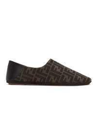 Fendi Brown Forever Loafers