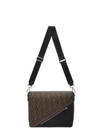 Fendi Black And Brown Forever Messenger Bag