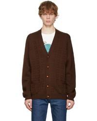 Gucci Brown Wool Logo Cardigan