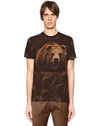 Etro Bear Printed Cotton Jersey T Shirt