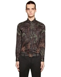 Etro Night Forest Print Washed Cotton Shirt