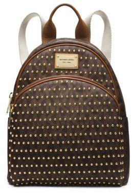 b6c10d386b48b5 ... Leather Backpacks Michael Kors Michl Kors Jet Set Travel Small Studded  Logo Backpack ...