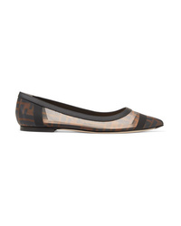 Fendi Colibri Med Mesh Point Toe Flats