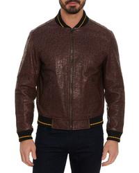 Robert Graham X Marvel Panther Throne Leather Jacket
