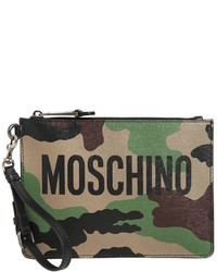 Camo printed leather pouch w logo medium 4417535