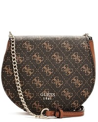 GUESS Cate Logo Saddle Cross Body
