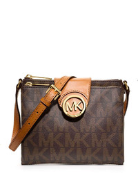 MICHAEL Michael Kors Michl Michl Kors Fulton Large Logo Crossbody Brown